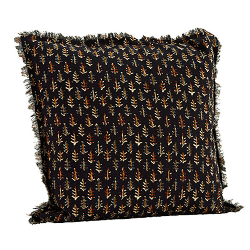 Madam Stoltz-collectie Cushion cover w/ fringes