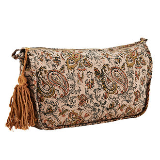 Madam Stoltz Printed toilet bag w/ tassel