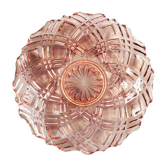 DEENS LOVES Vintage bowl with incorporated motif in rose glass