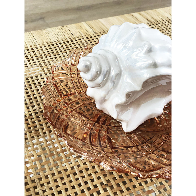 DEENS LOVES-collectie Vintage ceramic shell in white pearl
