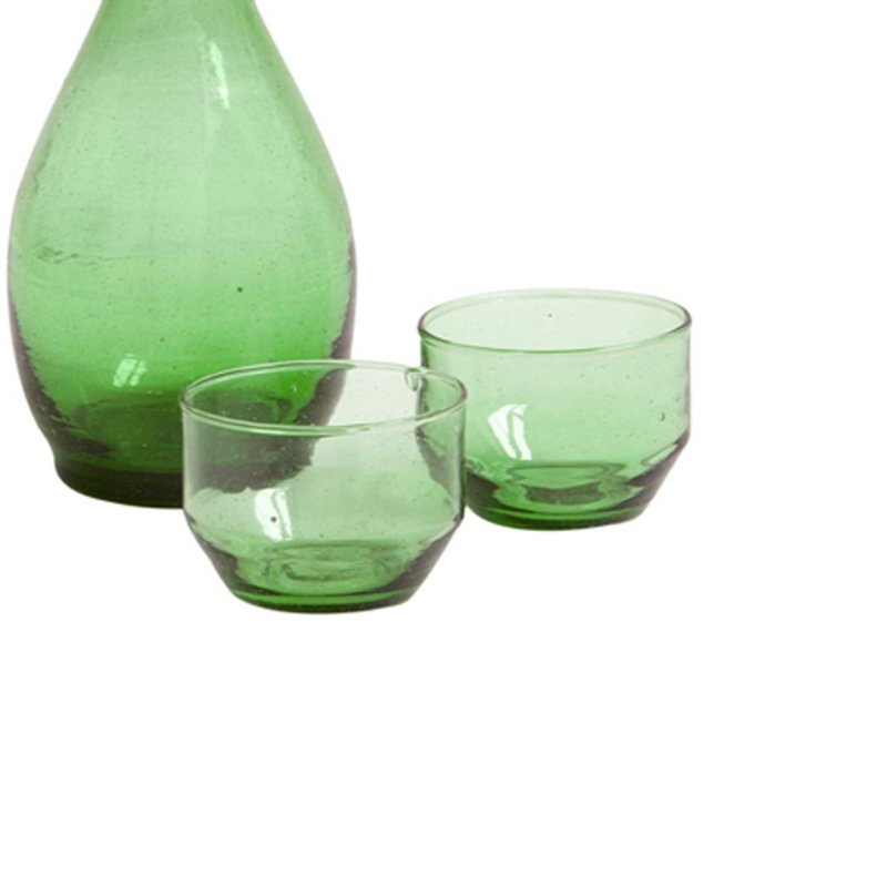 Household Hardware-collectie Bottle green wineglass flat