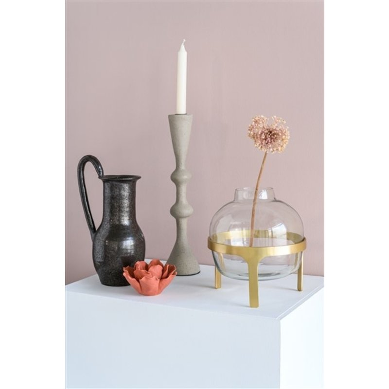 Urban Nature Culture-collectie Flower vase recycled glass in stand