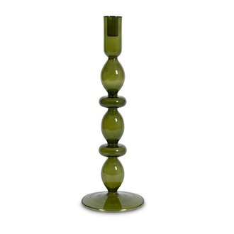 Urban Nature Culture Candle holder recycled glass Refined L, fir green