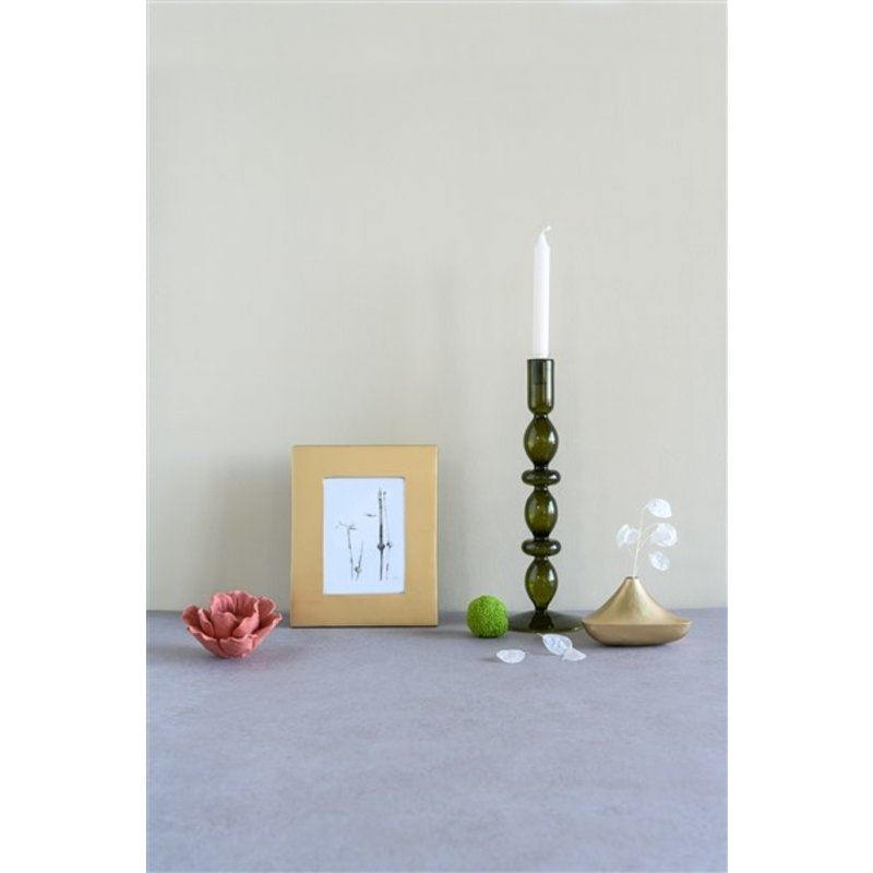 Urban Nature Culture-collectie Candle holder recycled glass Refined L, fir green