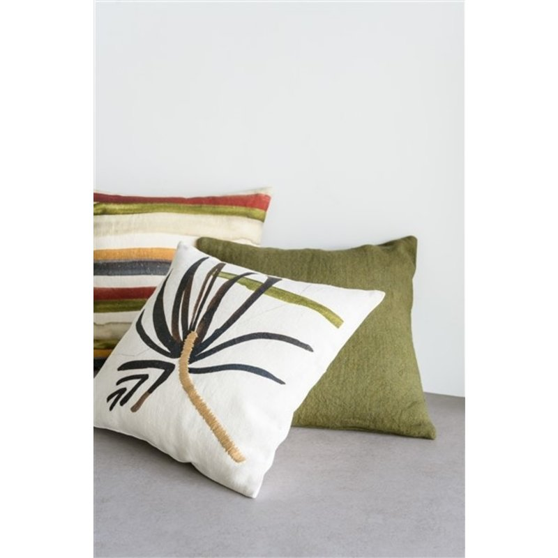 Urban Nature Culture-collectie Cushion washed jute, fir green