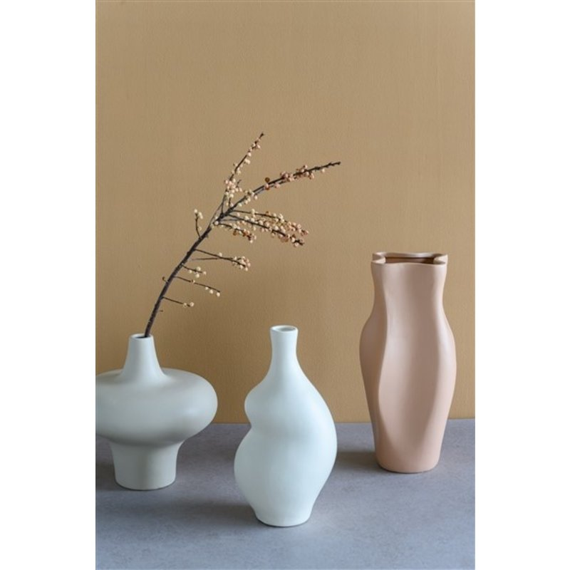 Urban Nature Culture-collectie Flower vase Silhouette S, warm grey
