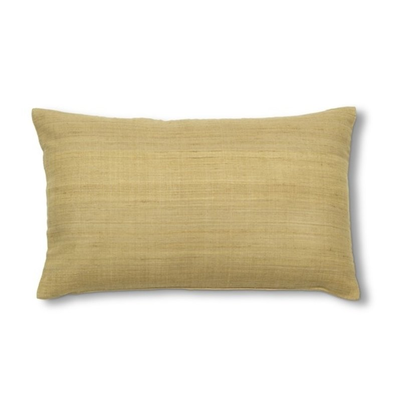 Urban Nature Culture-collectie Cushion silk Mustard, yellow