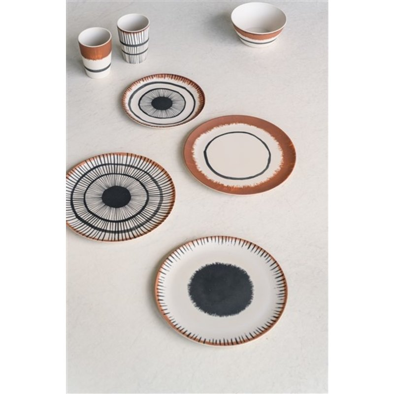 Urban Nature Culture-collectie Dinner plate bamboo 25 cm Vibration C
