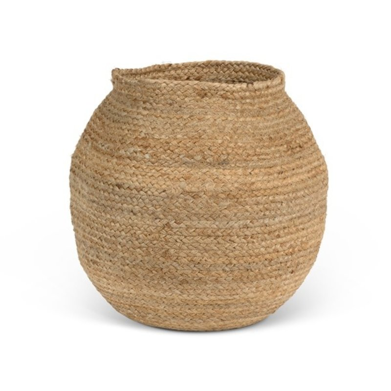 Urban Nature Culture-collectie Opbergmand jute Rond Naturel