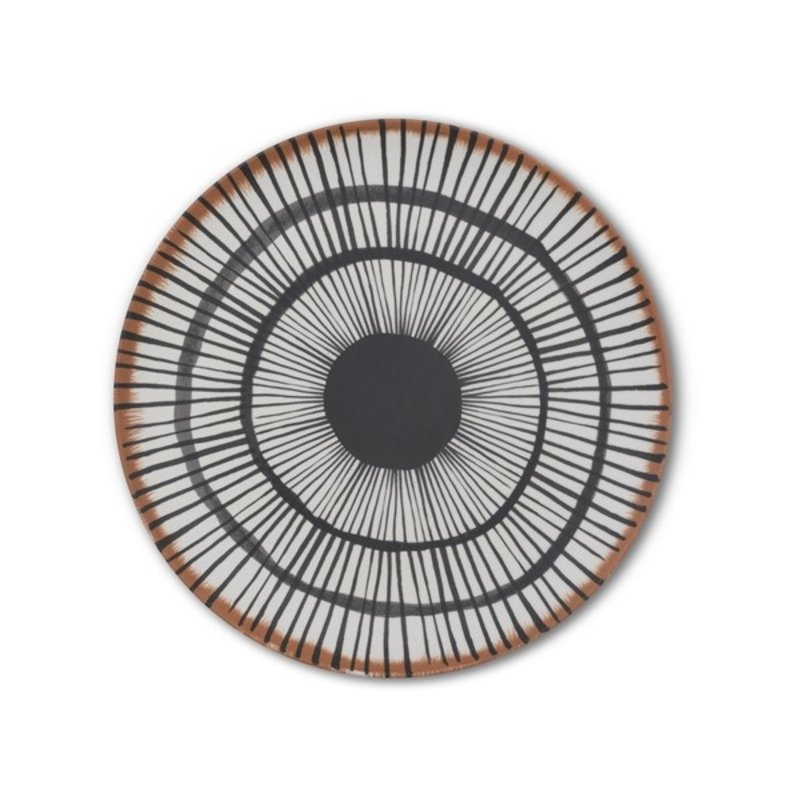 Urban Nature Culture-collectie Dinner plate bamboo 25 cm Vibration B