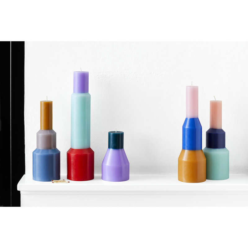 HAY-collectie Pillar Candle M Blue
