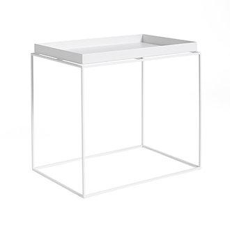 HAY Tray Table Side rechthoekig L40 x W60 Wit