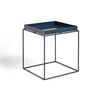 HAY Tray Table M vierkant L40 x W40 Diepblauw High gloss