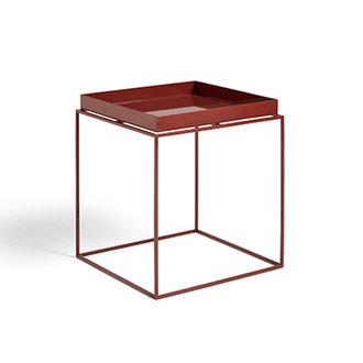 HAY Tray Table M vierkant L40 x W40 Chocolate High gloss