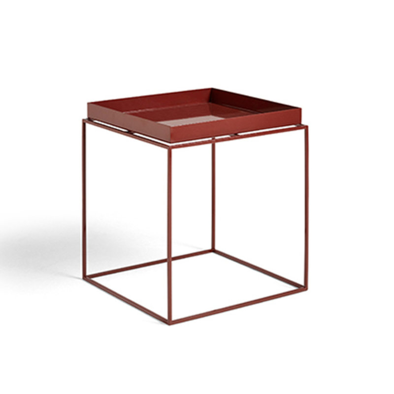 HAY-collectie Tray Table M vierkant L40 x W40 Chocolate High gloss