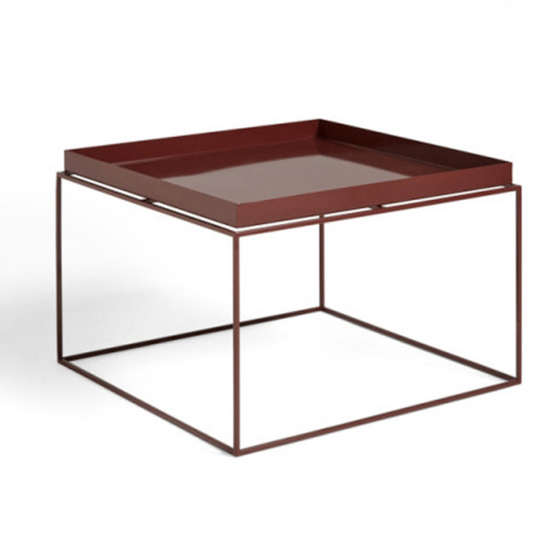HAY-collectie Tray Table Coffee vierkant L60 x W60 Chocolate High gloss