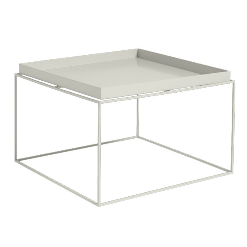 HAY-collectie Tray Table Coffee vierkant L60 x W60 Warmgrijs