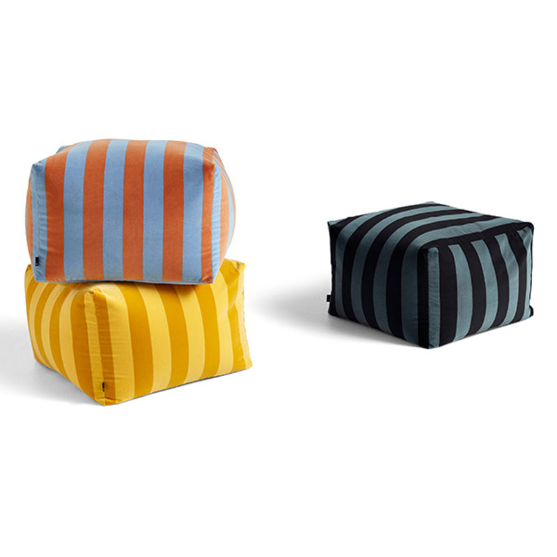 HAY-collectie Pouf Soft Stripe Soft blue LIMITED EDITION