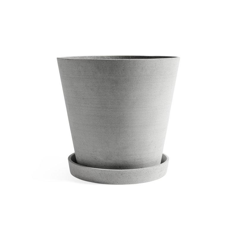 HAY-collectie Flowerpot with Saucer XXXL Grey