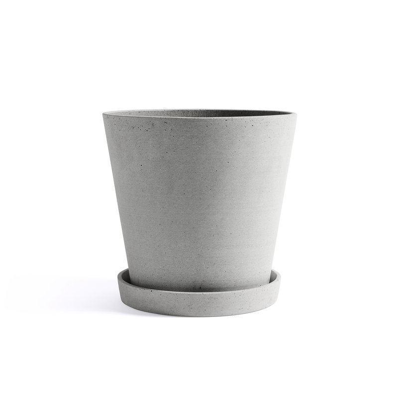 HAY-collectie Flowerpot with Saucer XXL Grey