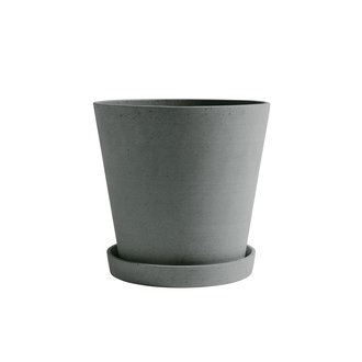 HAY Flowerpot with Saucer XXL Green