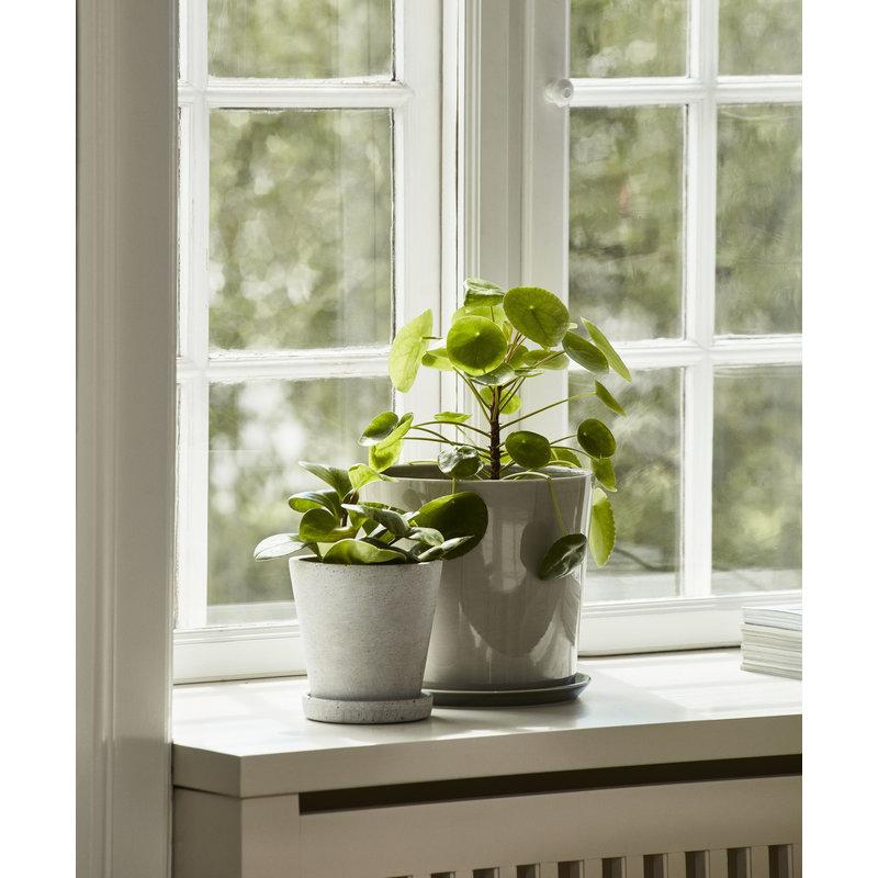 HAY-collectie Flowerpot With Saucer XXXL Grijs
