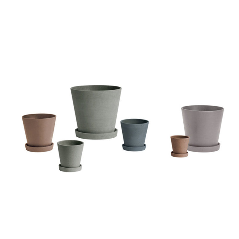 HAY-collectie Flowerpot With Saucer XXL Zwart