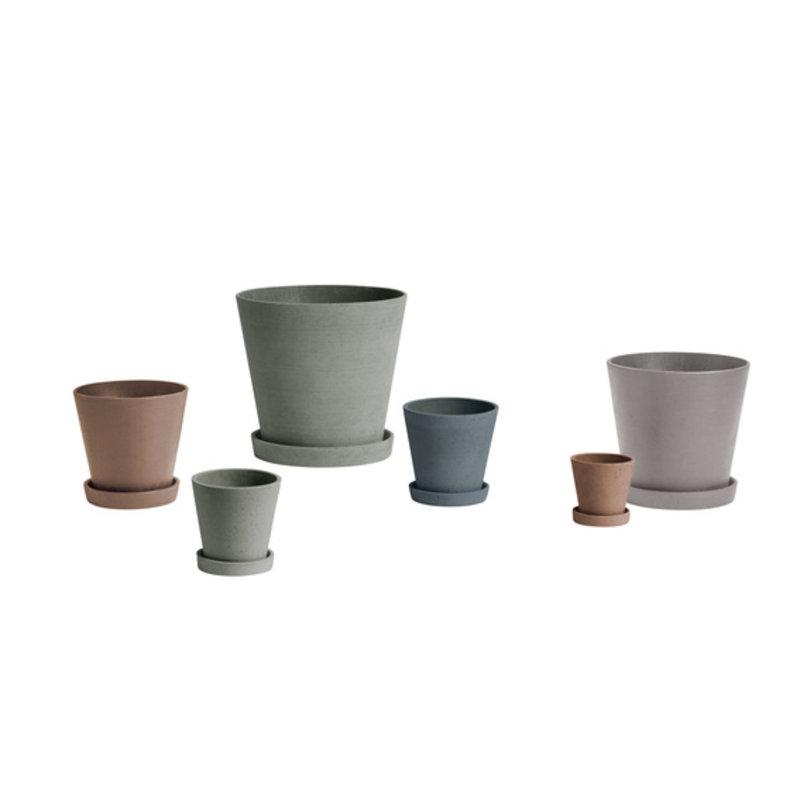 HAY-collectie Flowerpot With Saucer XXL Grijs