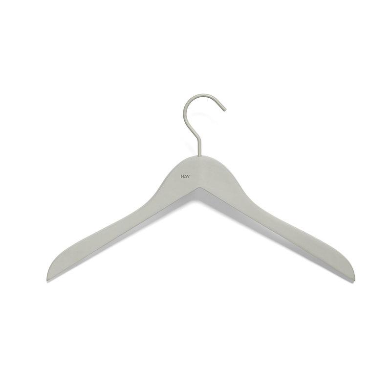 HAY-collectie Soft Coat Hanger 4 pcs Slim grey