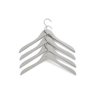 HAY Soft Coat Hanger 4 pcs Slim grey