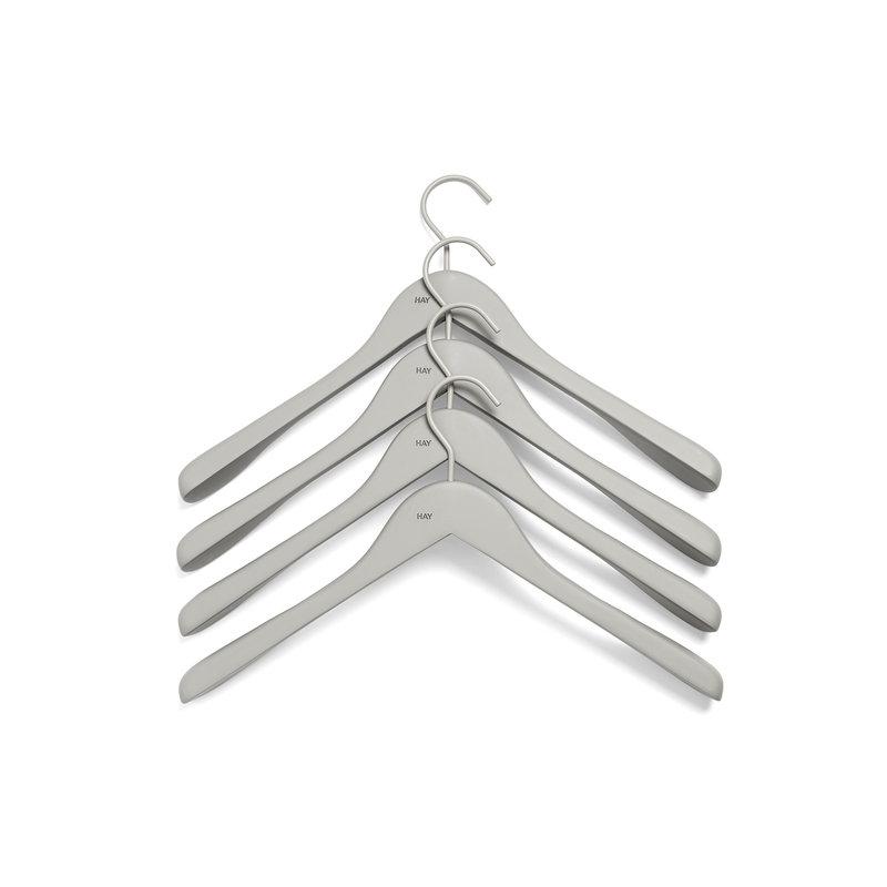 HAY-collectie Soft Coat Hanger 4 pcs Wide grey