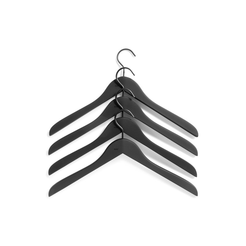 HAY-collectie Soft Coat Hanger 4 pcs Slim black