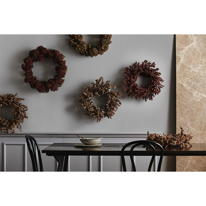 Nordal-collectie KORPO wreath, red
