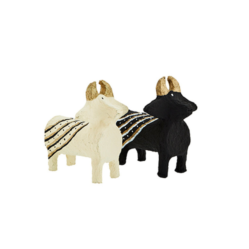 Madam Stoltz-collectie Decoratie 'Animals' 100% recycled -set van 2