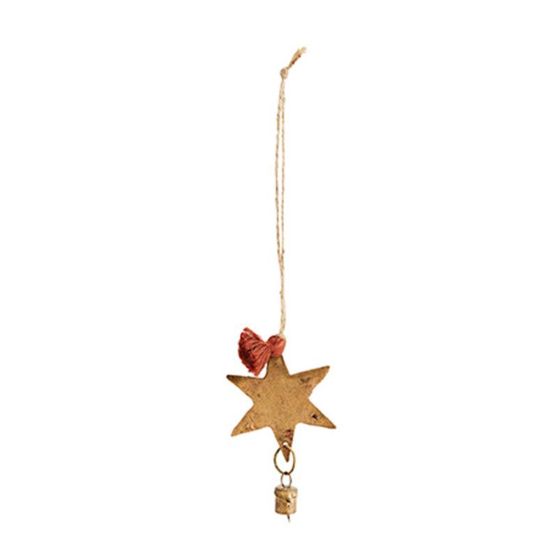 Madam Stoltz-collectie Decoratieve hanger 'Ster' met belletje
