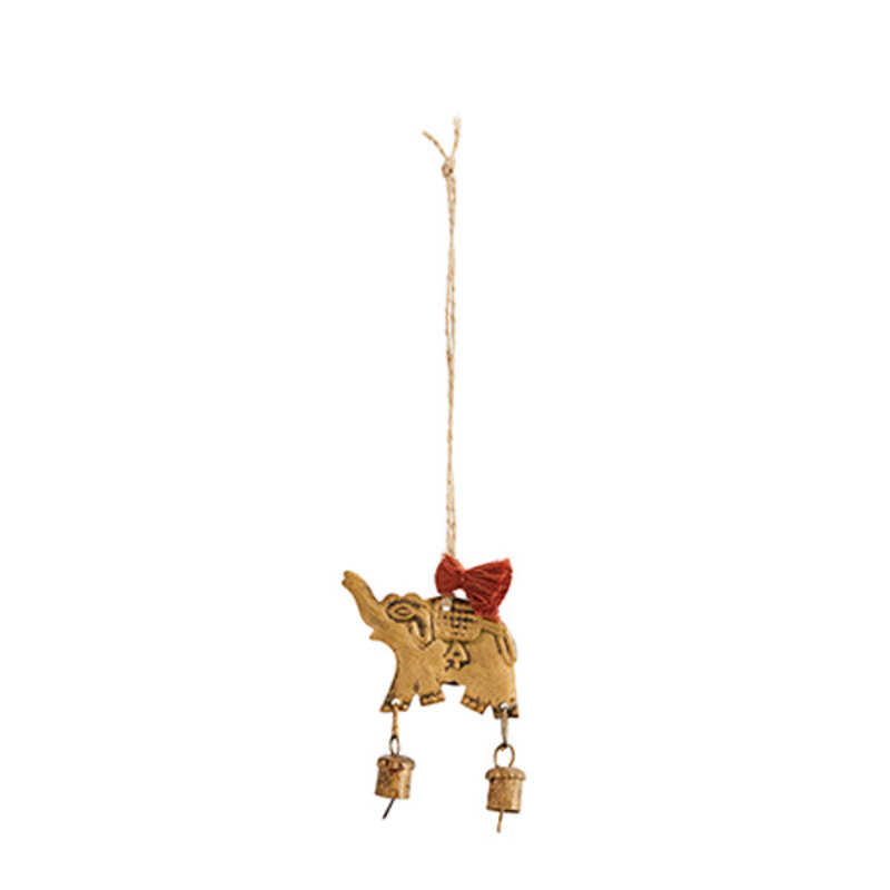 Madam Stoltz-collectie Hangornament 'Olifant' met belletjes