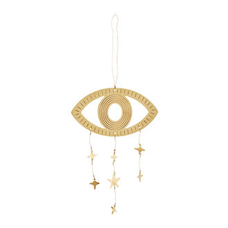 Madam Stoltz Hanging eye ornament w/stars