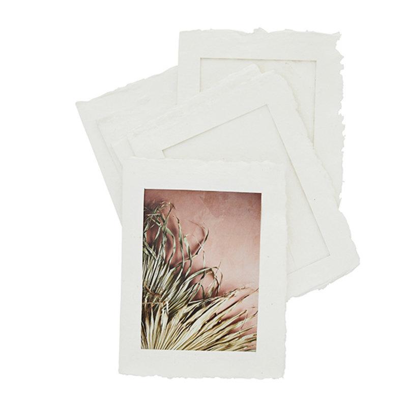 Madam Stoltz-collectie Paper pulp photo frames off white