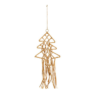 Madam Stoltz Wandhanger kerstboom naturel