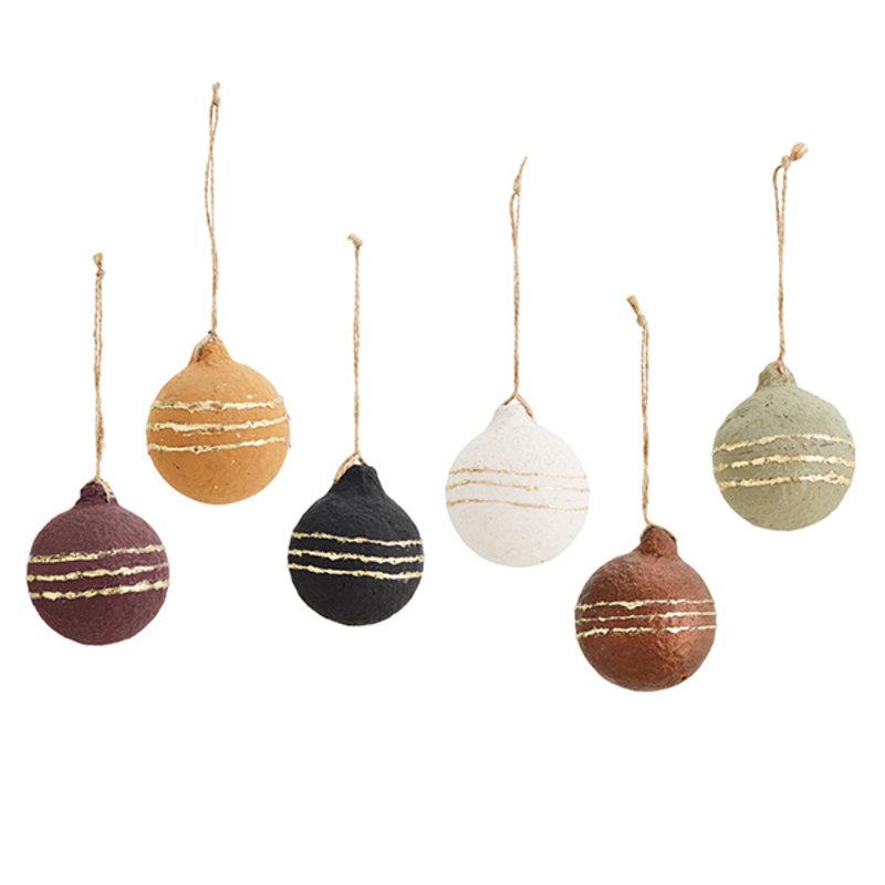 Madam Stoltz-collectie Hanging paper pulp balls