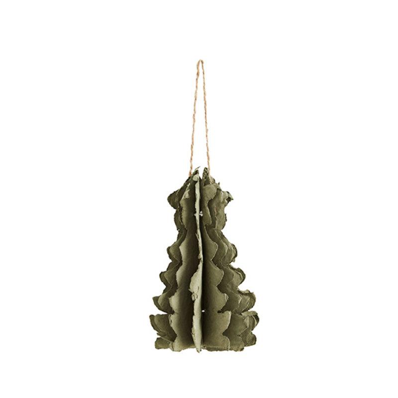 Madam Stoltz-collectie Hanging paper pulp Christmas tree liquen