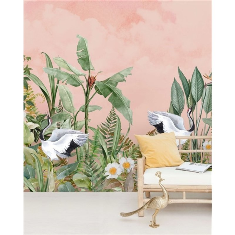 Creative Lab Amsterdam-collectie Dancing Crane behang Mural
