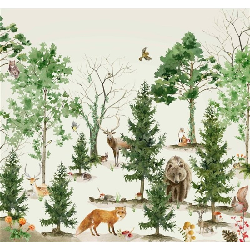 Creative Lab Amsterdam-collectie Forest Life Wallpaper Mural