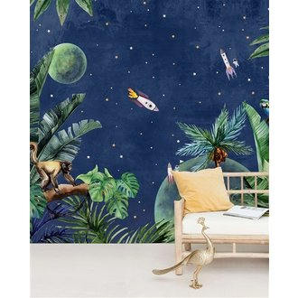 Creative Lab Amsterdam From Jungle to Space Mural