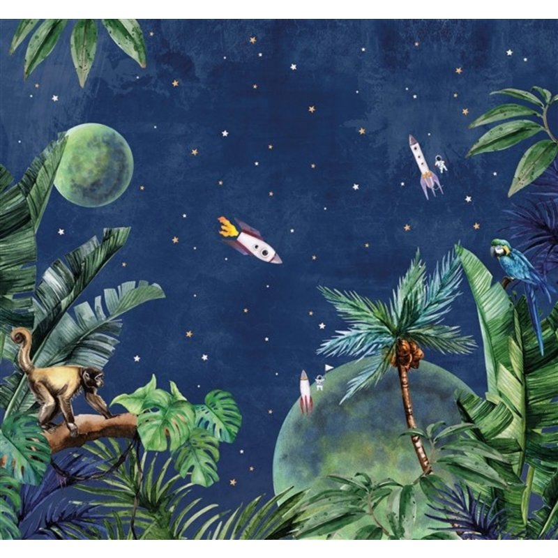 Creative Lab Amsterdam-collectie From Jungle to Space behang Mural