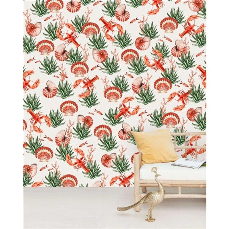 Creative Lab Amsterdam-collectie Fruits de Mer behang Mural