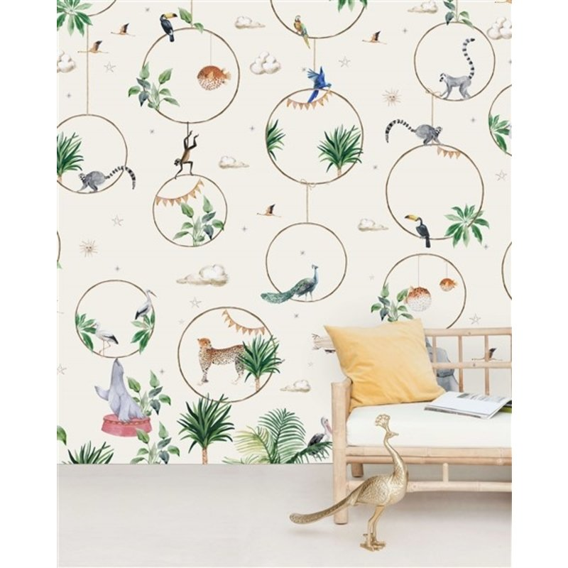 Creative Lab Amsterdam-collectie Hula Hoop Wallpaper Mural