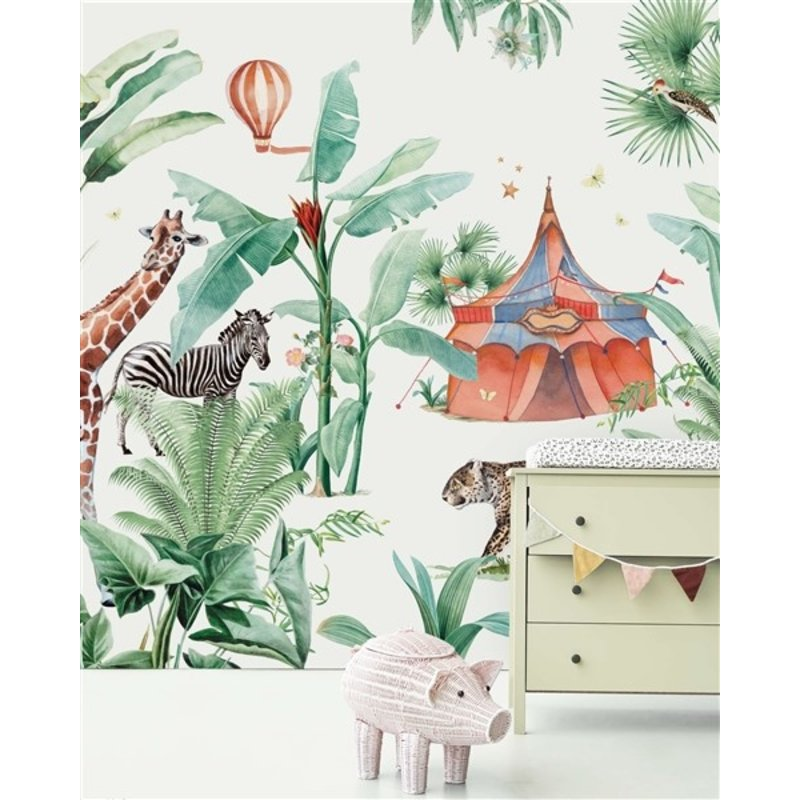 Creative Lab Amsterdam-collectie Jungle Circus behang Mural