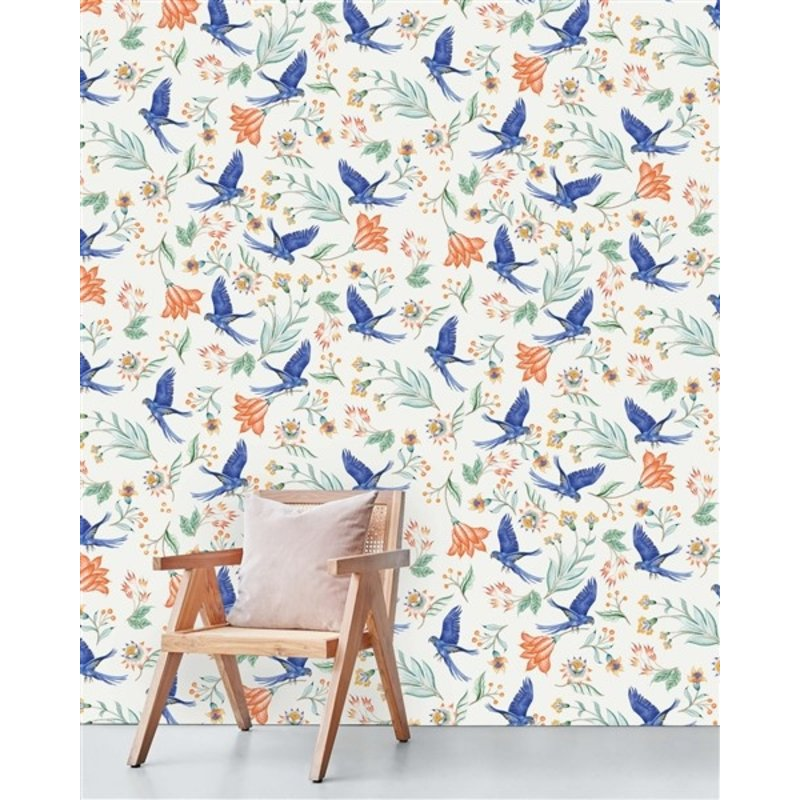 Creative Lab Amsterdam-collectie Paisley Parrot Wallpaper Mural
