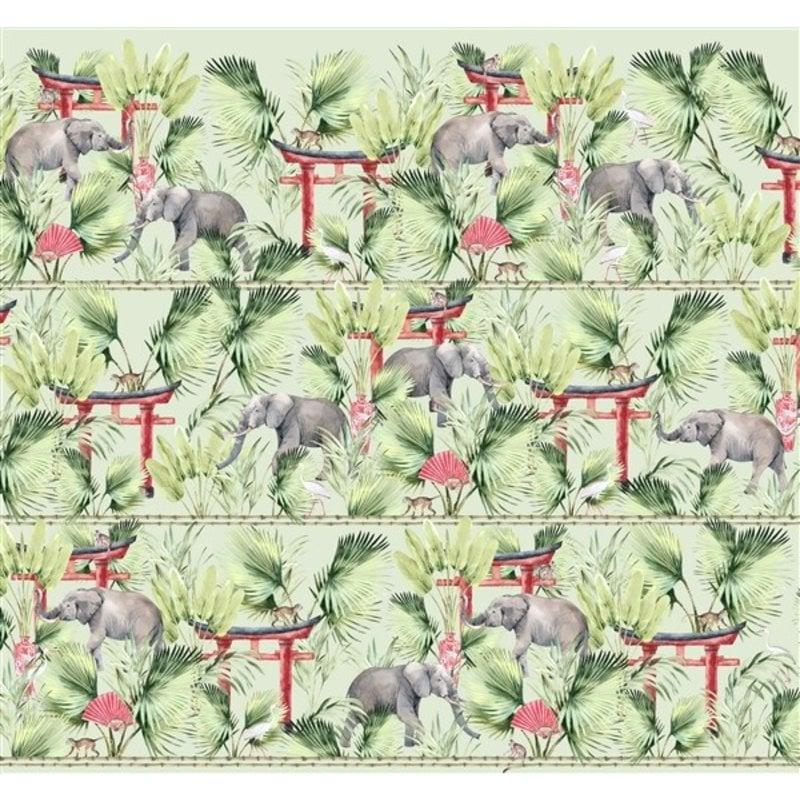 Creative Lab Amsterdam-collectie Ritual Elephant behang Mural